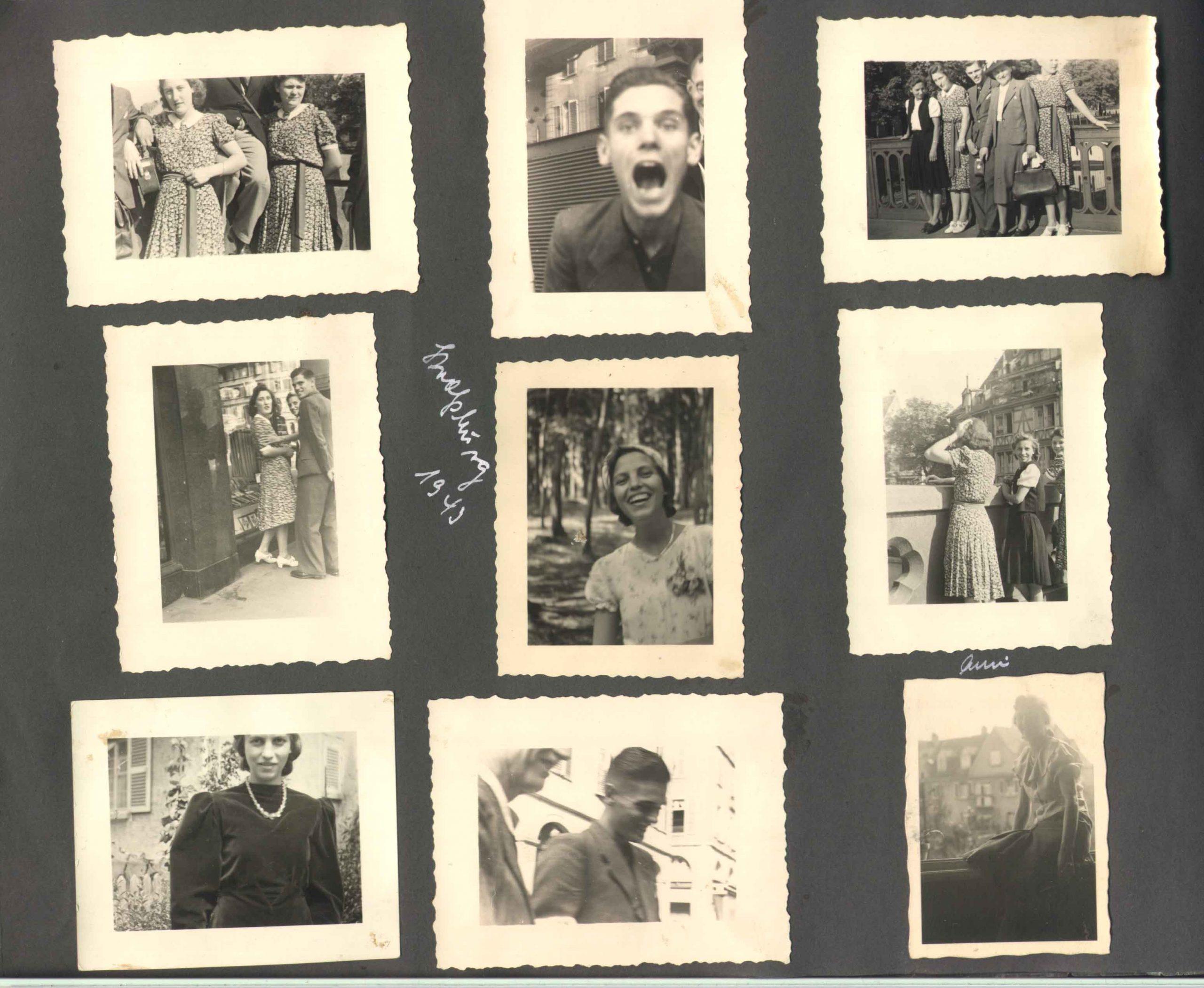 Albumseite von 1940